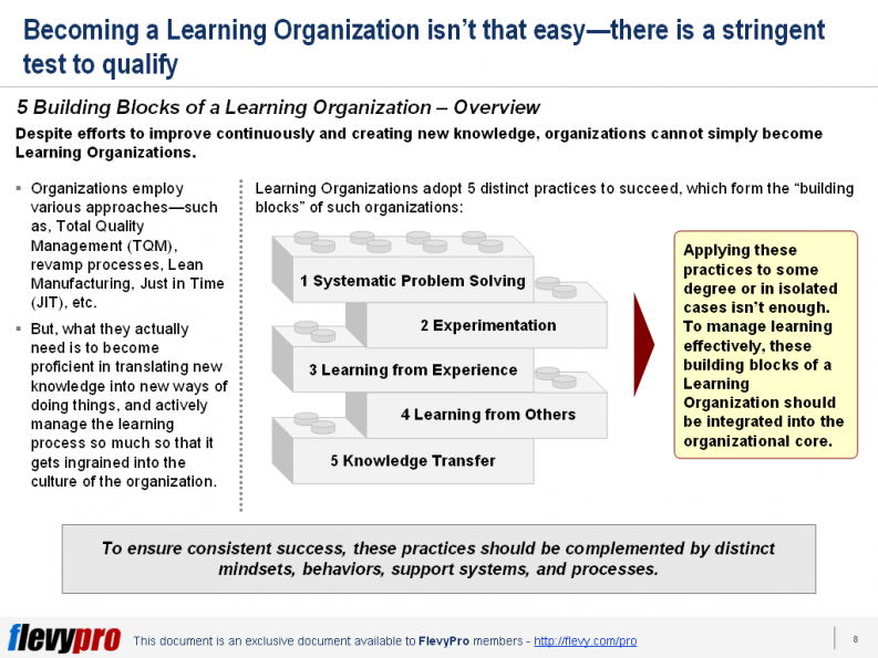 5 Building Blocks of a Learning Org