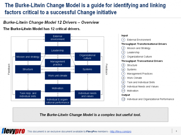 pic 2 Burke-Litwin Change Model
